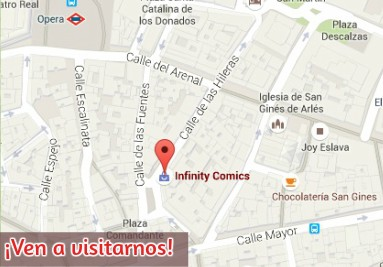Mapa Infinity Comics